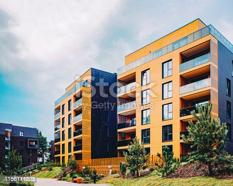 949087660 istock photo Modern European residential buildings quarter 1156111223