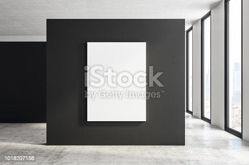 istock Modern exhibition hall with billboard 1018207158