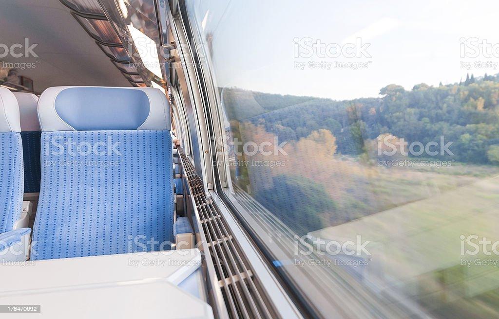 Modern express train. stock photo