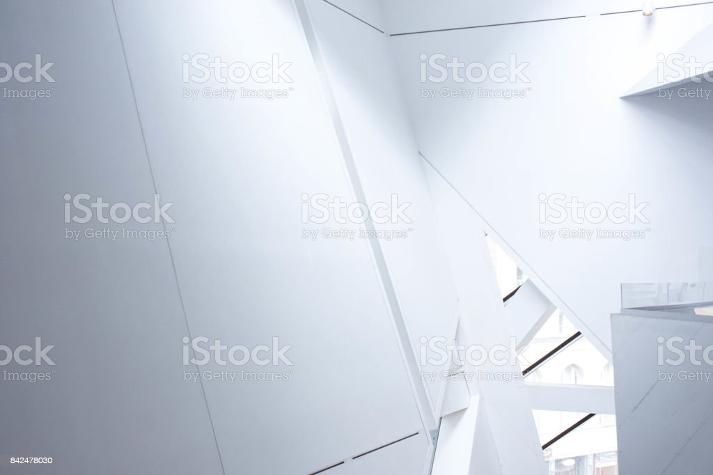 modern faceted architecture stock photo