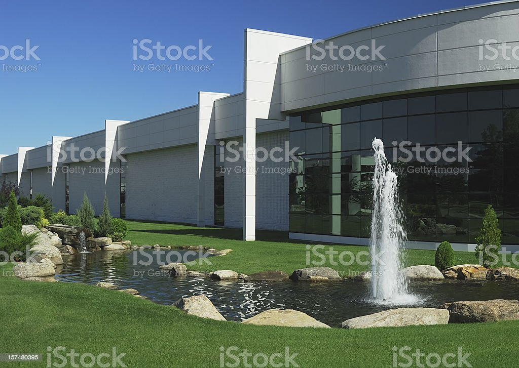 Modern factory or warehouse stock photo