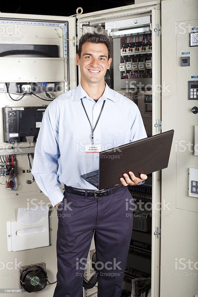modern factory technician royalty-free stock photo
