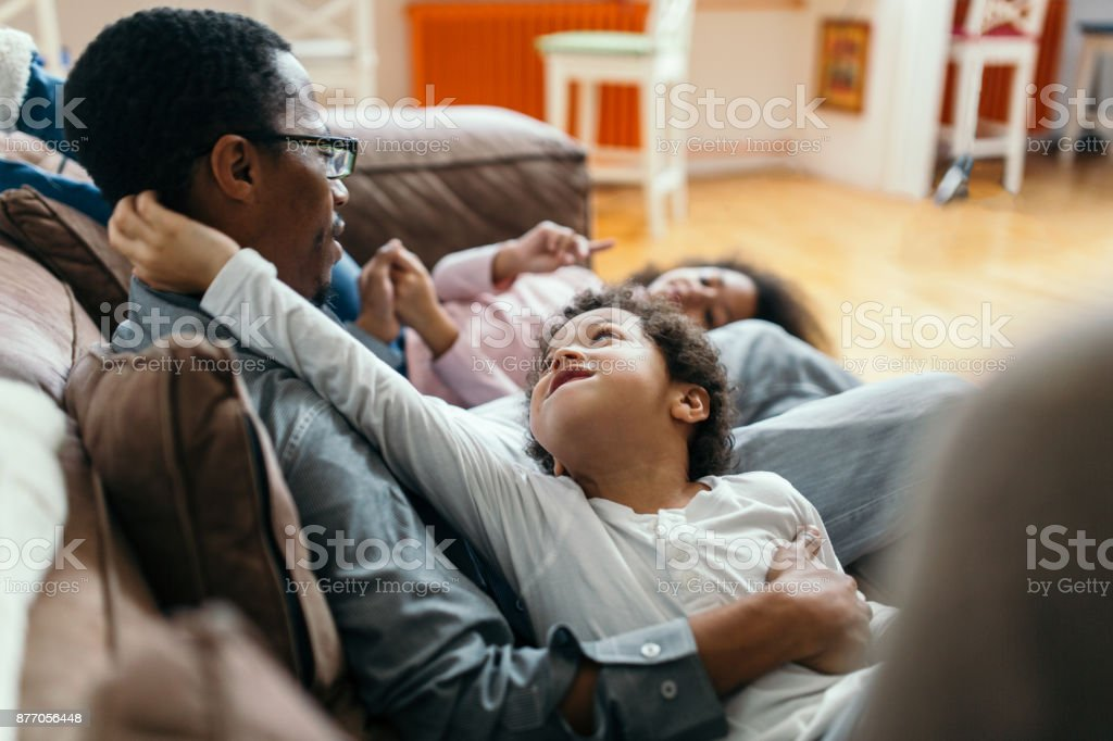 Modern Families stock photo
