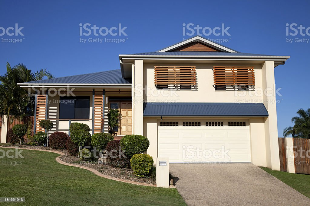 Modern Family Home royalty-free stock photo