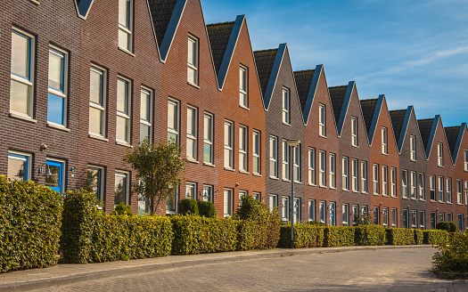 istock Modern family houses in a row 623441392