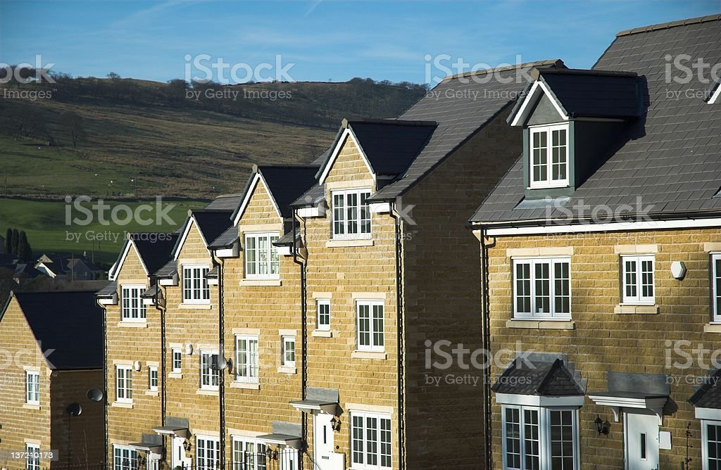 Modern family houses. royalty-free stock photo
