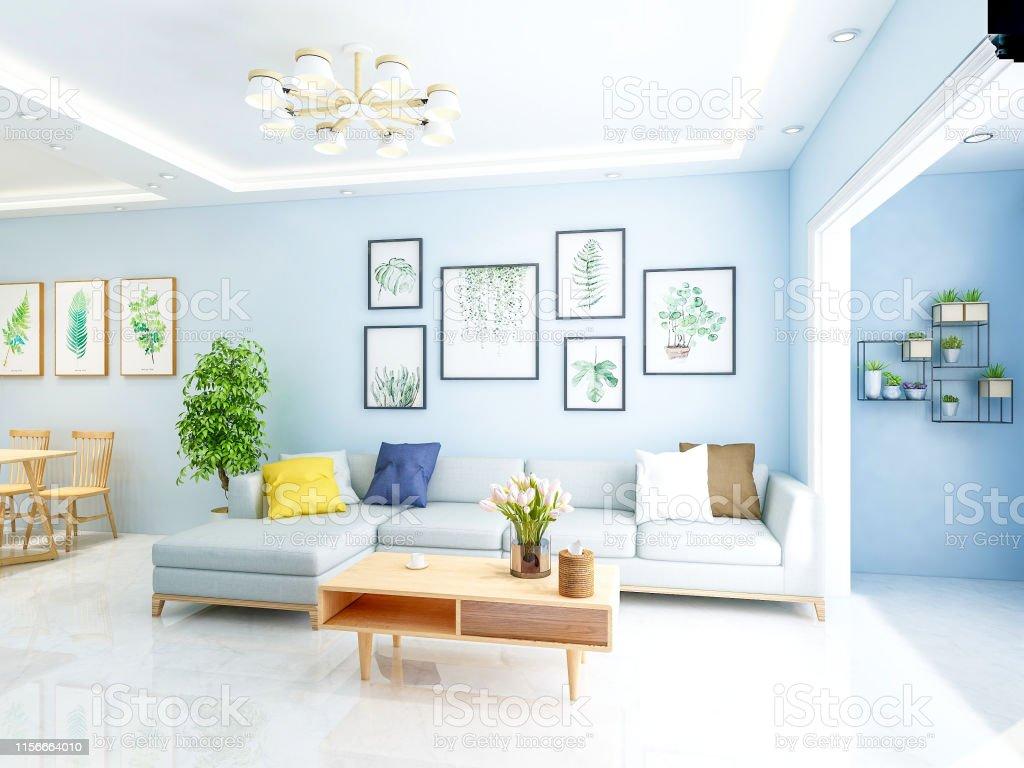 Modern Family Luxury Simple Living Room Design Stock Photo ...
