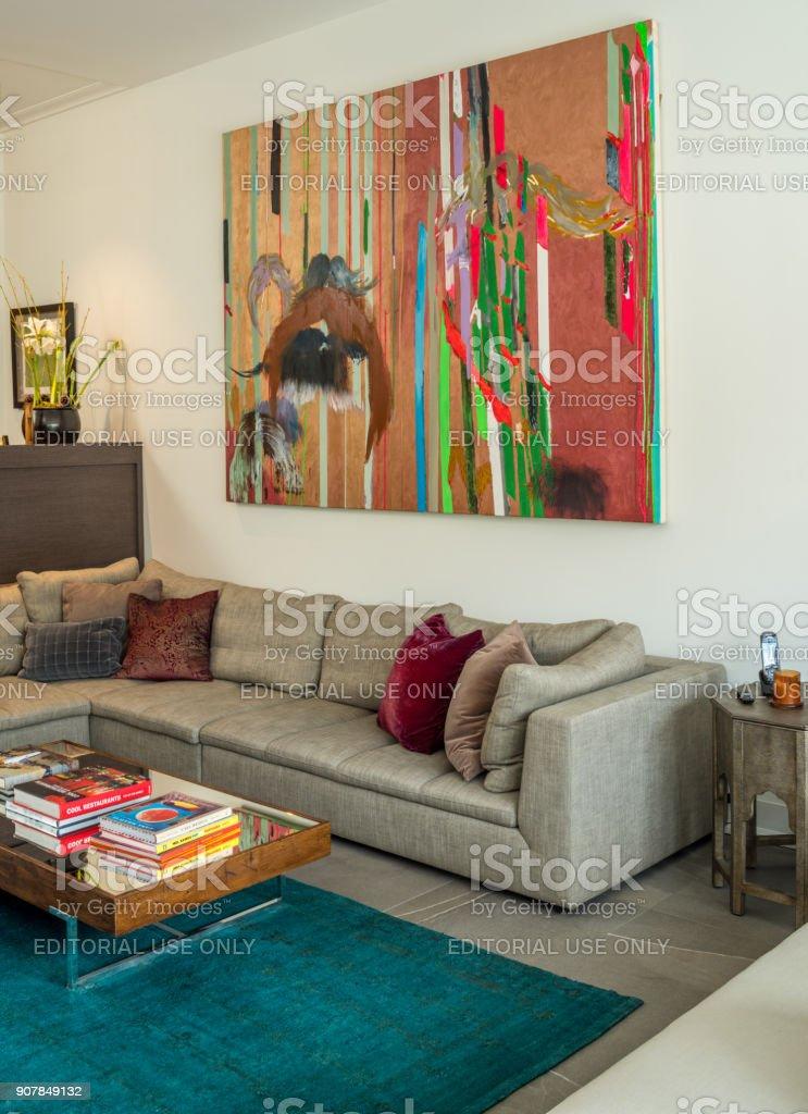 Modern Family Room Interior – Foto