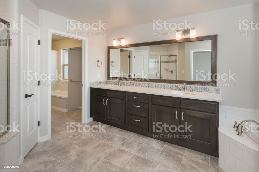 Modern Farm House Bathroom stock photo