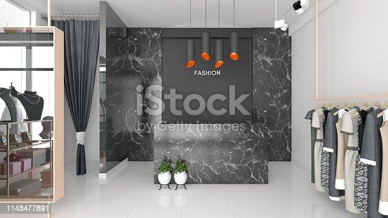 istock Modern fashion atelier 1143477891