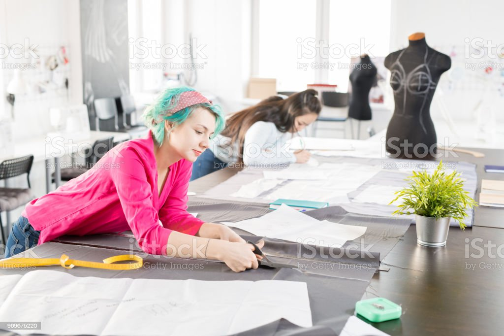 Modern Fashion Designers Sewing Clothes Stock Photo Download Image Now Istock