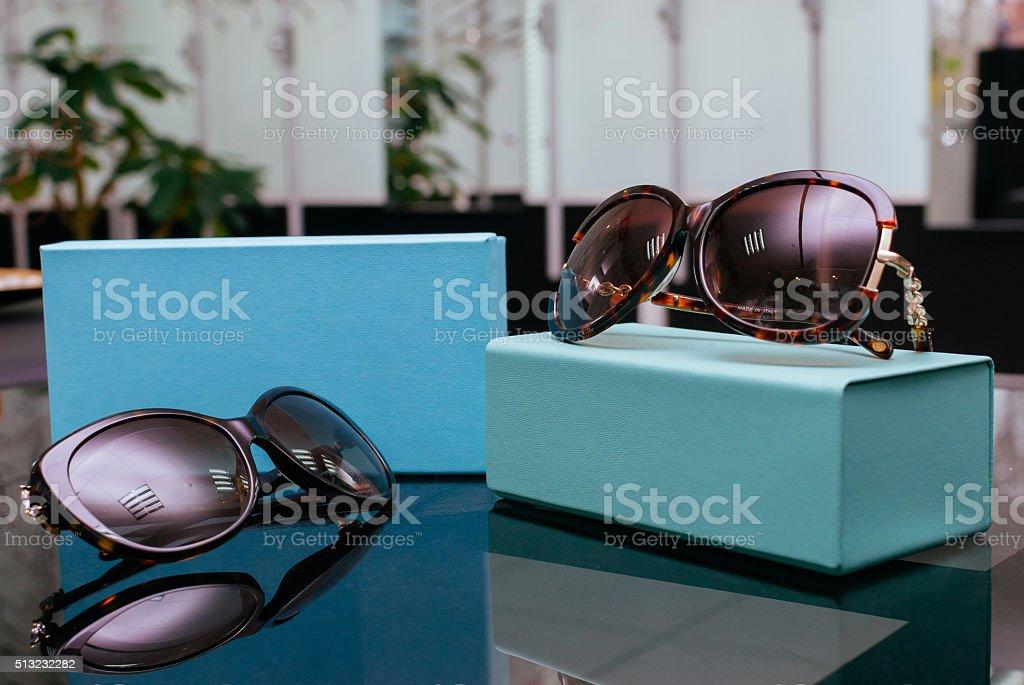 Modern fashion sun glasses stock photo