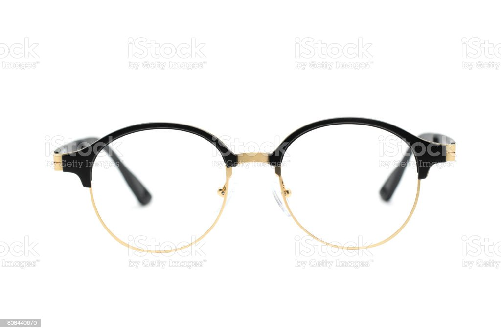 52bce48c319d Modern Fashionable Spectacles Isolated On White Background Perfect ...