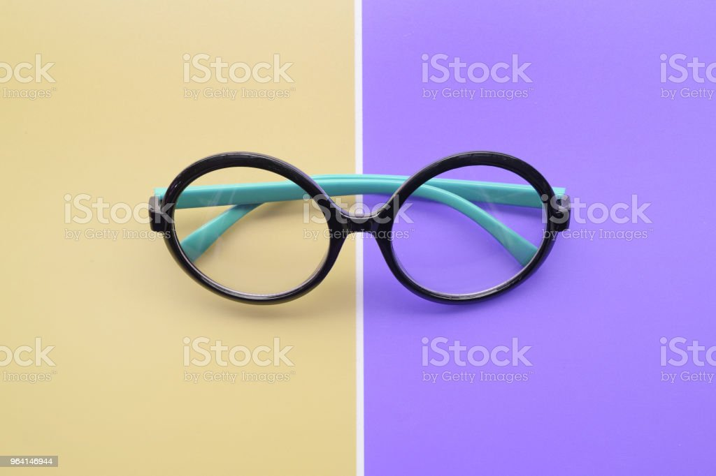 Modern fashionable sunglasses stock photo