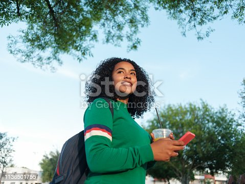 946192604 istock photo Modern female college student 1136501755