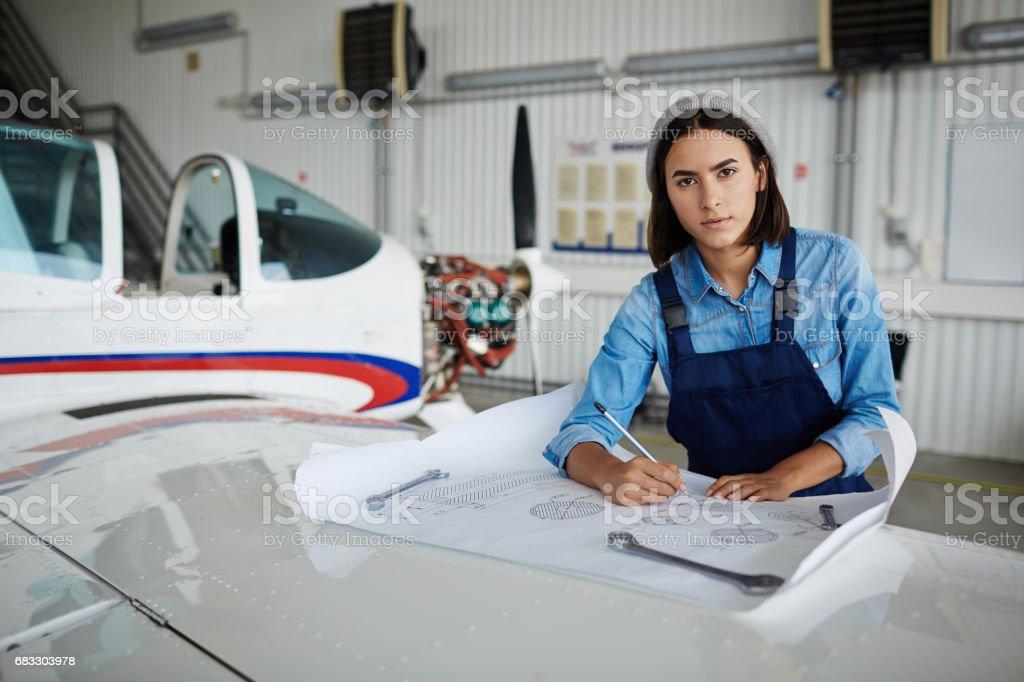 Modern Female Engineer zbiór zdjęć royalty-free