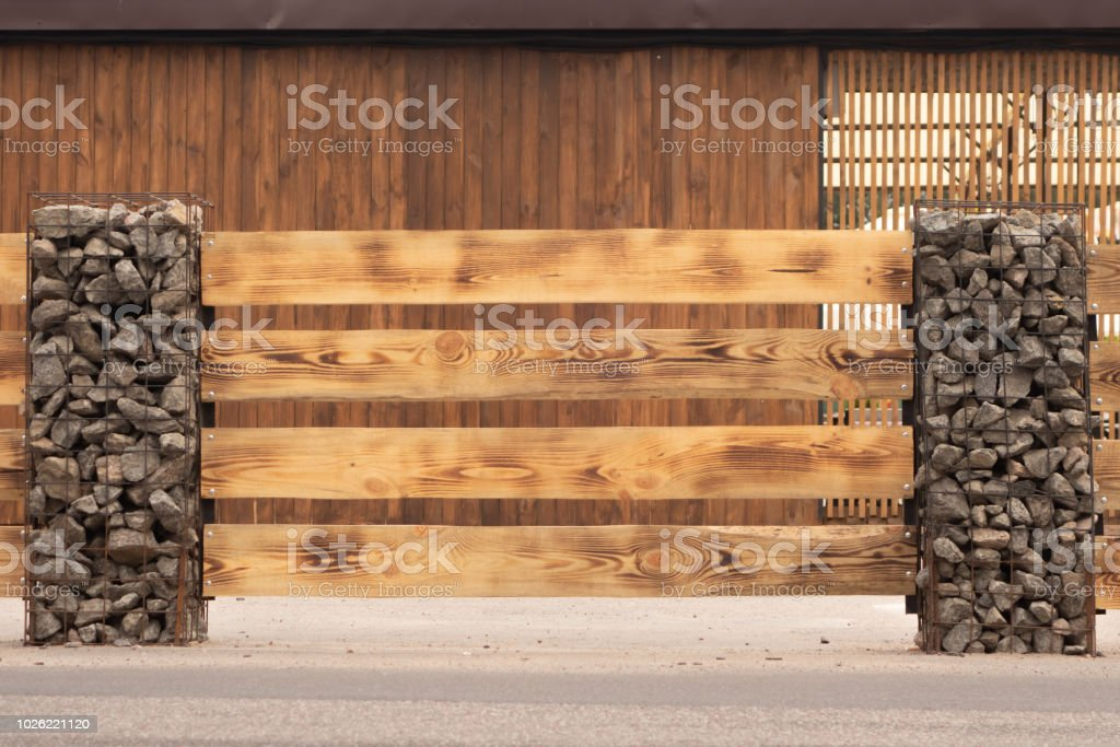 Media Istockphoto Com Photos Modern Fence Made Fro