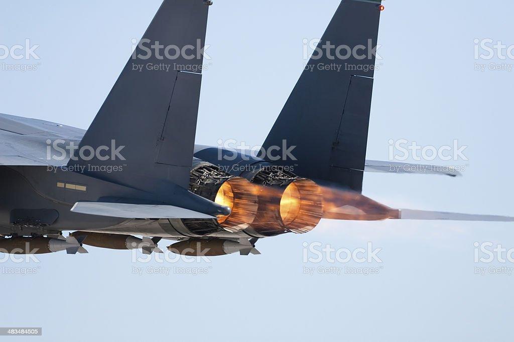 Modern Fighter Jet stock photo