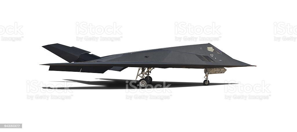 Modern fighter plane with clipping path royalty-free stock photo