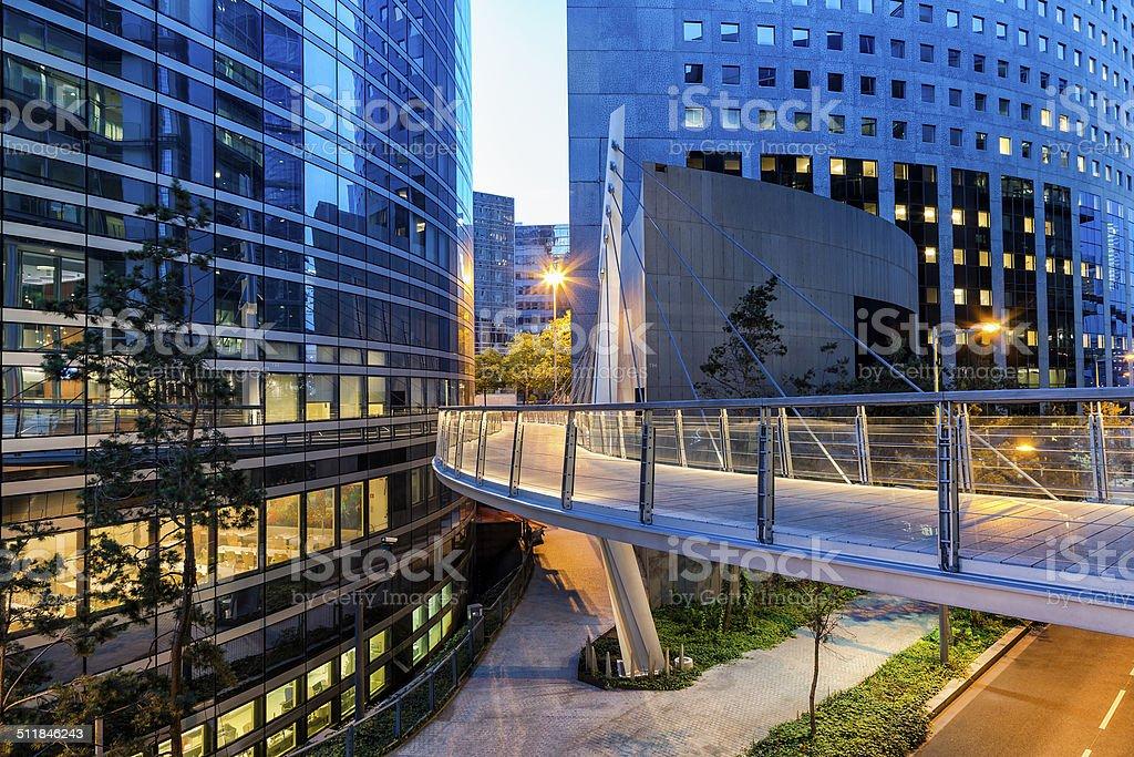 Modern Financial District, La Defense, Paris, France stock photo