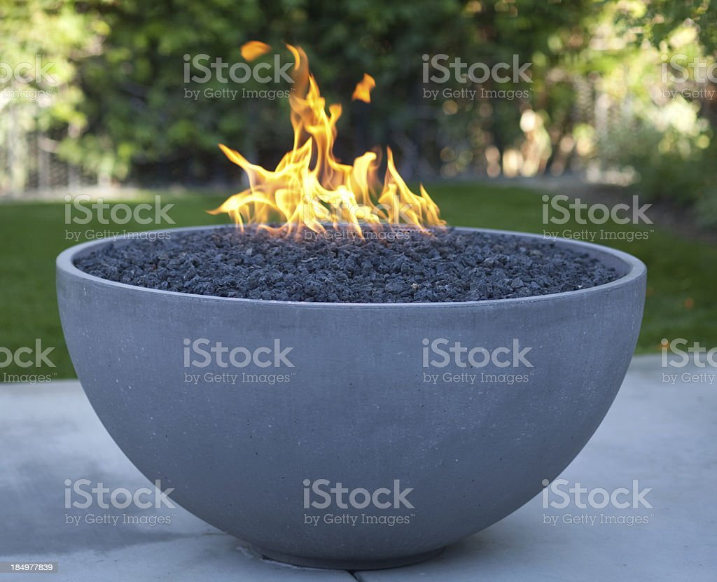 modern fire pit royalty-free stock photo