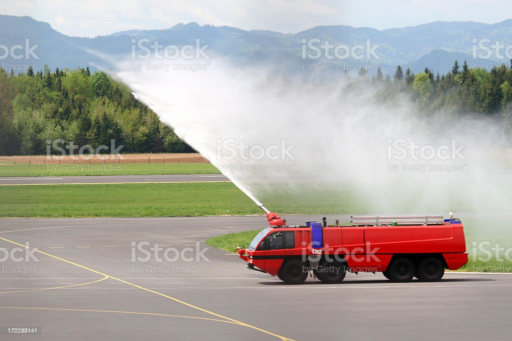 Modern fire truck royalty-free stock photo