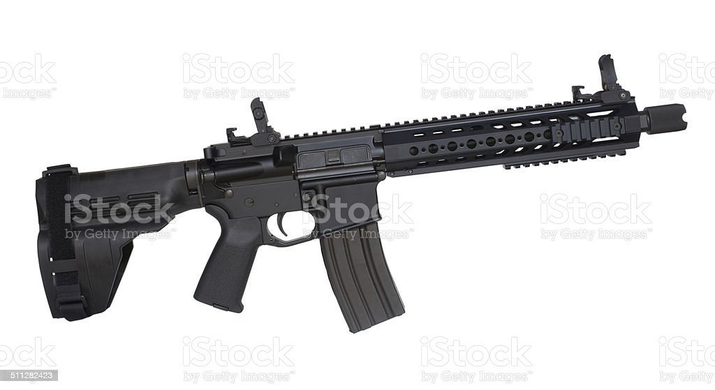 Modern firearm stock photo
