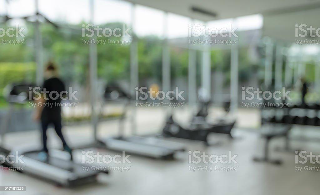 Modernes fitness center abstrakte blur Hintergrund – Foto