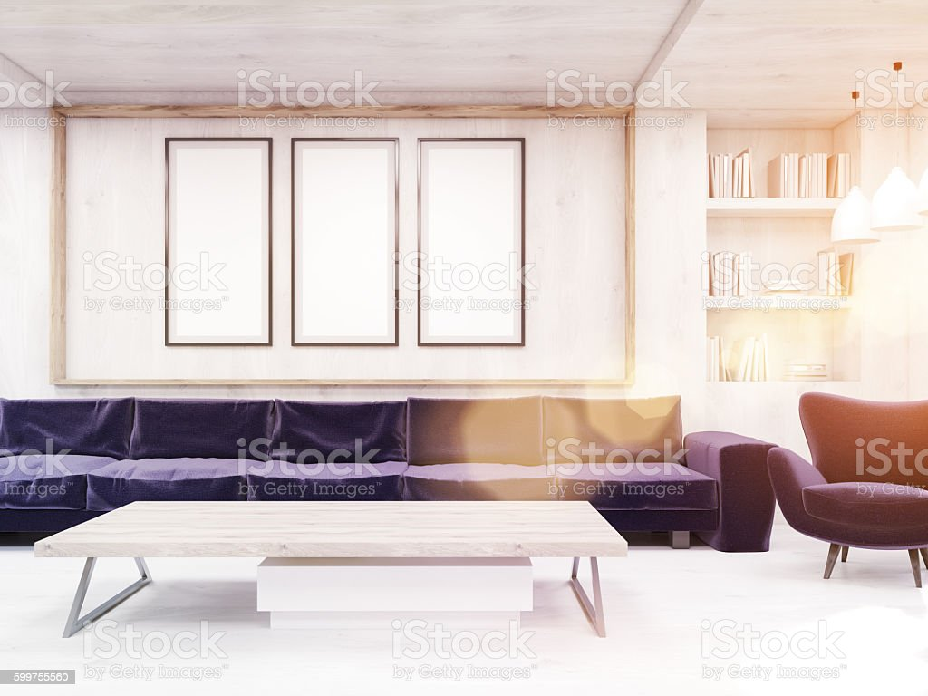 Modern flat interior stock photo