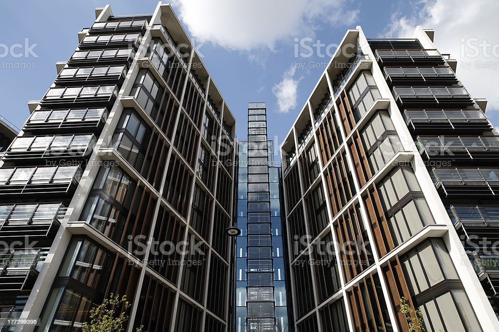Modern flats in london stock photo