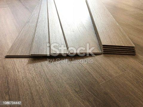 Modern floor made of vinyl material