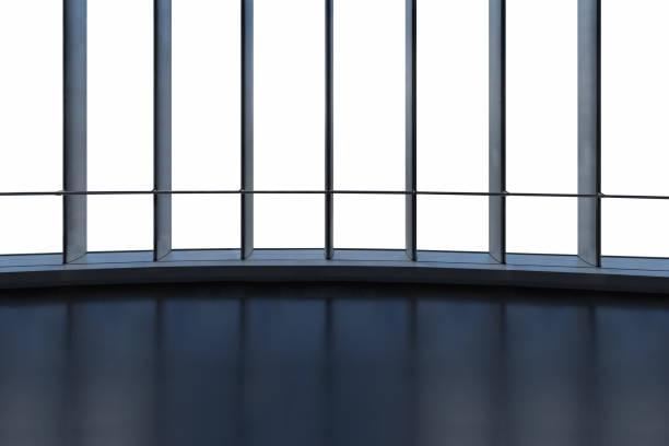 moderne vom Boden bis zur Decke reichenden Fenster isoliert – Foto
