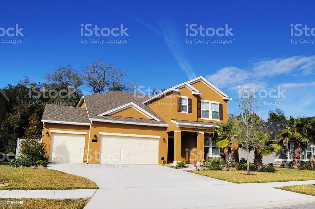 Modern Florida Real Estate Single Family Home stock photo
