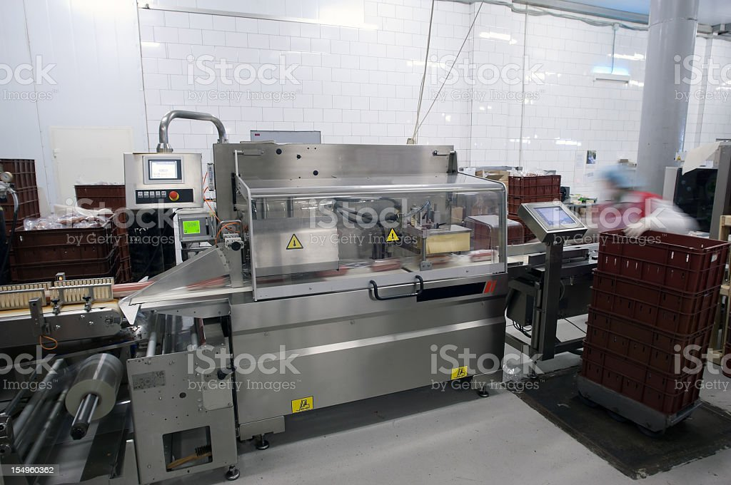 A modern Food Packaging Production Line stock photo