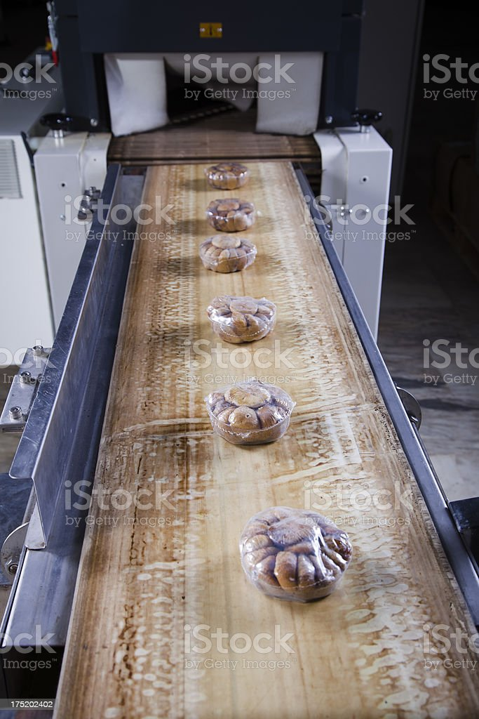 Modern Food Packaging Production Line stock photo