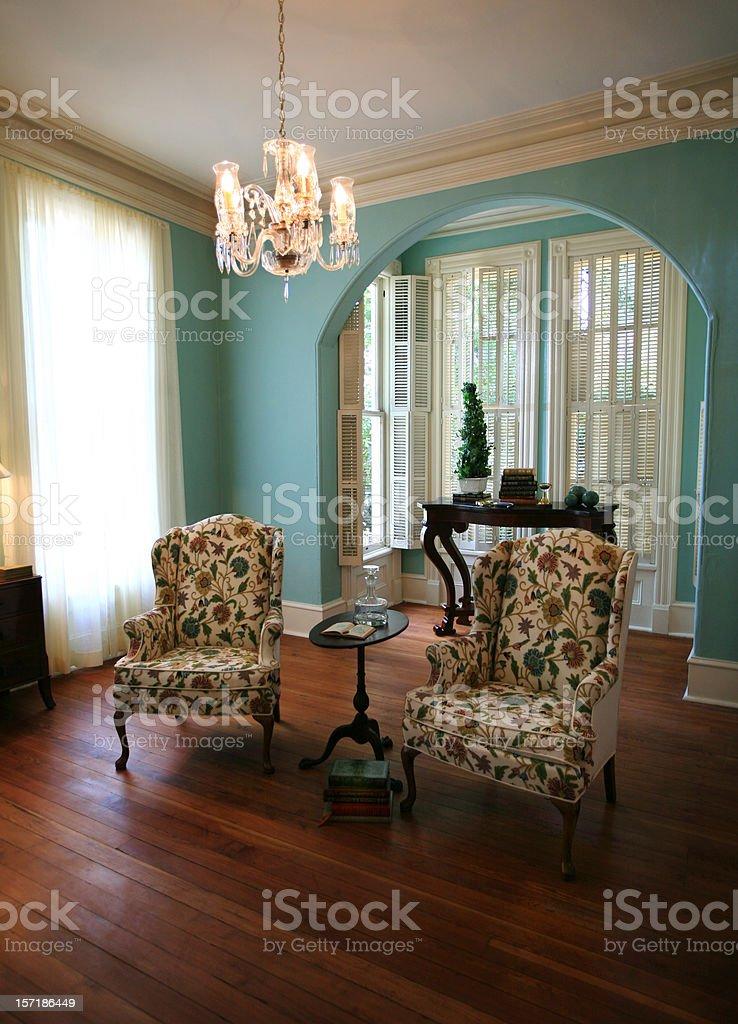 Modern Formal Living Room stock photo