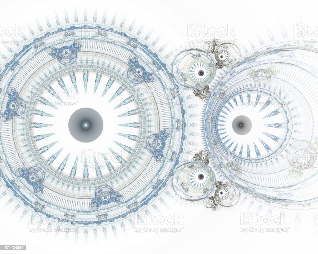 Moderne Fraktale Mechanischen Hintergrund Time Machine Digital ...
