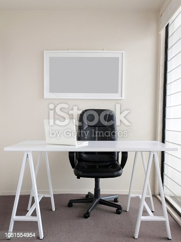1062261710istockphoto Modern freelance home office interior space 1051554954