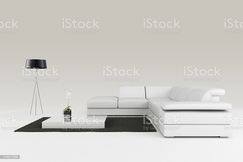 Modern Furniture - Clipping path royalty-free stock photo
