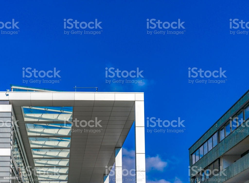 Modern futuristic architecture in Mainz 'Am Brand' Square stock photo