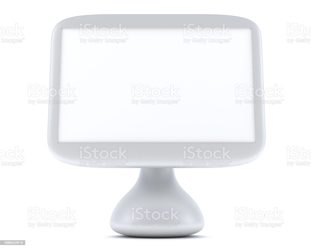Modern, futuristic LCD computer monitor royalty-free stock photo