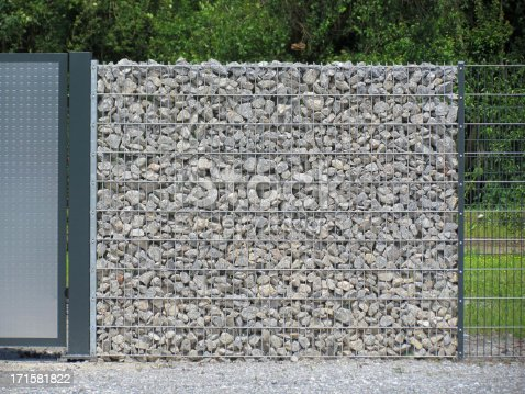 new modern gabion - ideal as noise barrier or windbreakwall or just for decoration