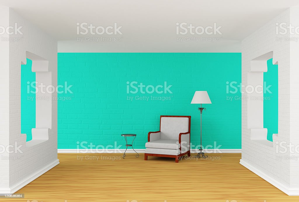 modern gallery's hall royalty-free stock photo