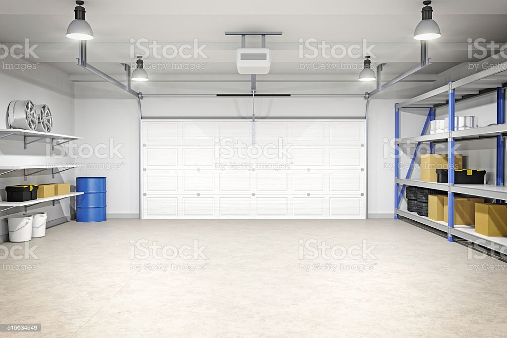 Garage modern  Modern Garage Interior stock photo | iStock