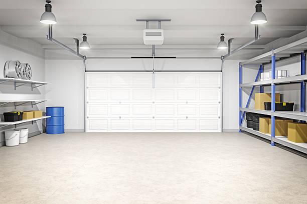 garagem interior moderno - garage - fotografias e filmes do acervo
