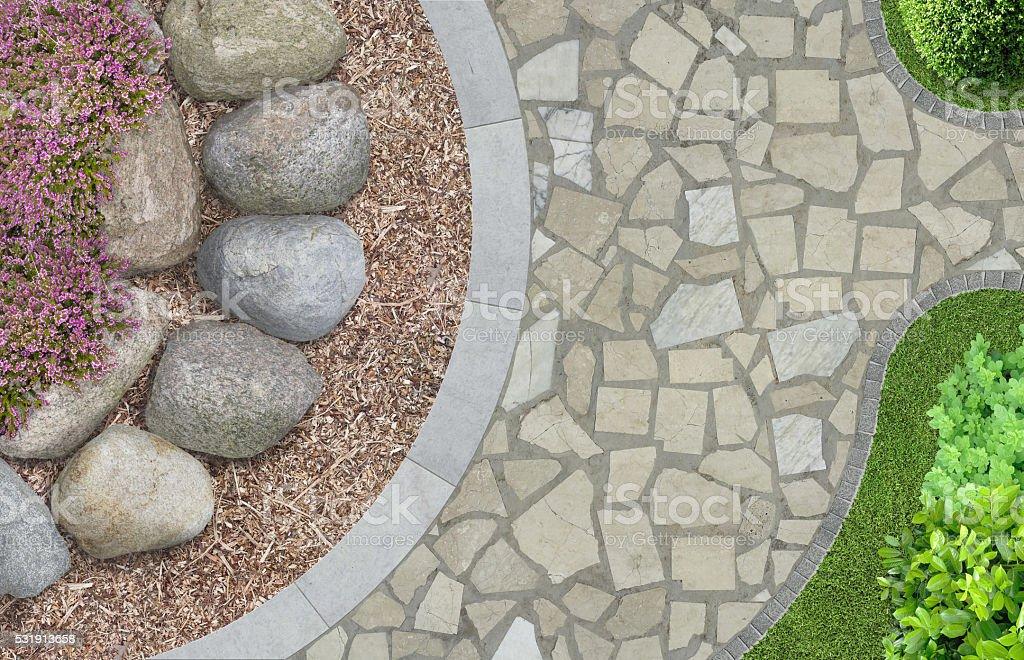 Moderne Architektur in Aufsicht Garten – Foto