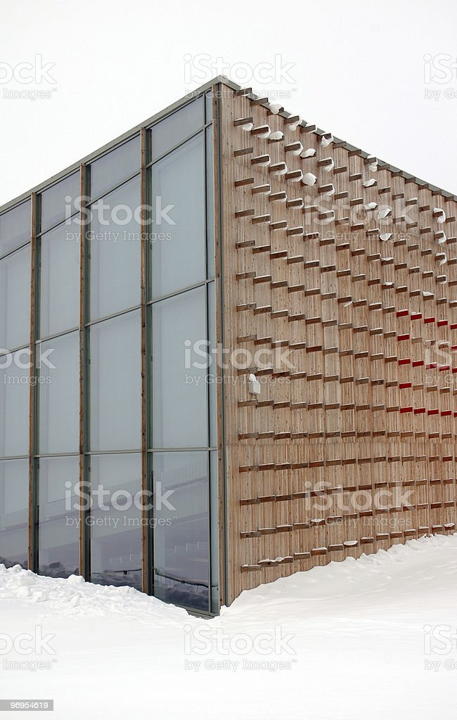 modern geometric architecture at winter royalty-free stock photo