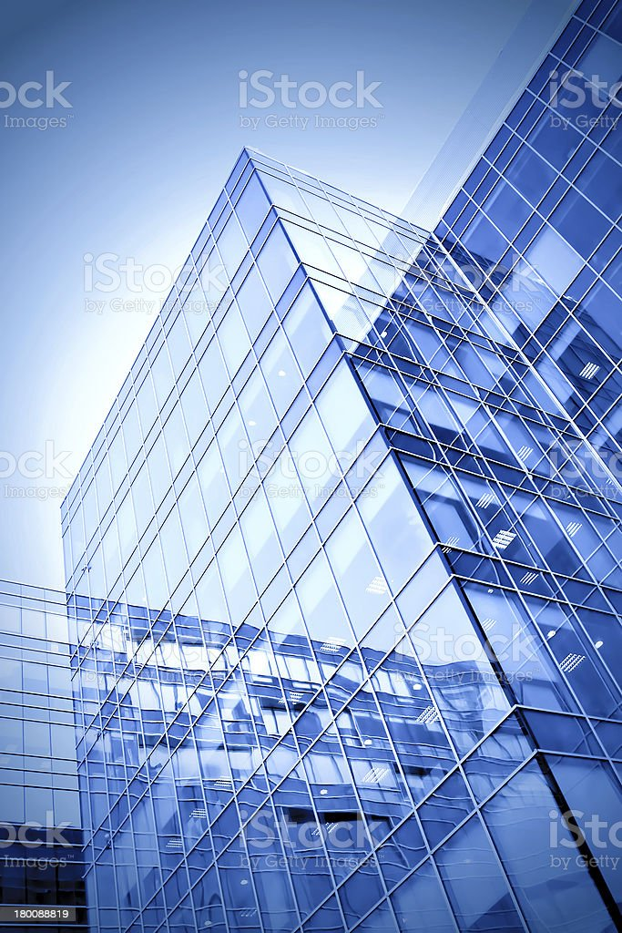 modern geometric skyscrapers royalty-free stock photo