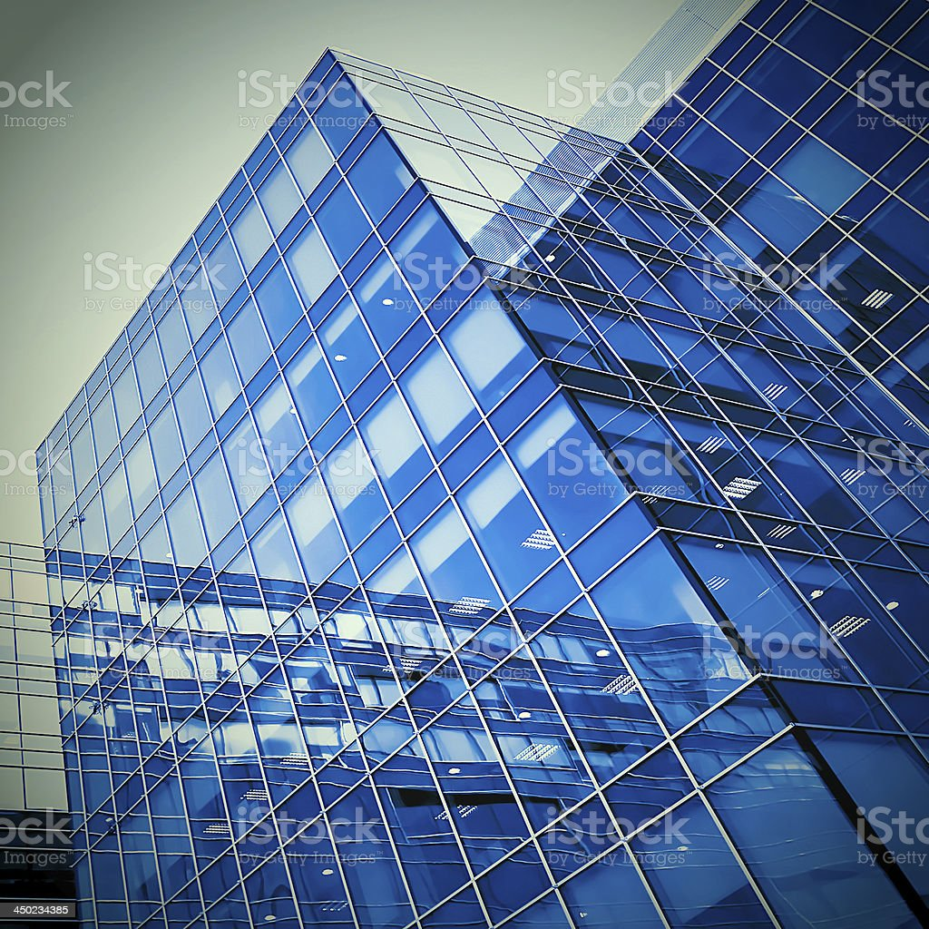modern geometric skyscrapers royalty-free stock photo