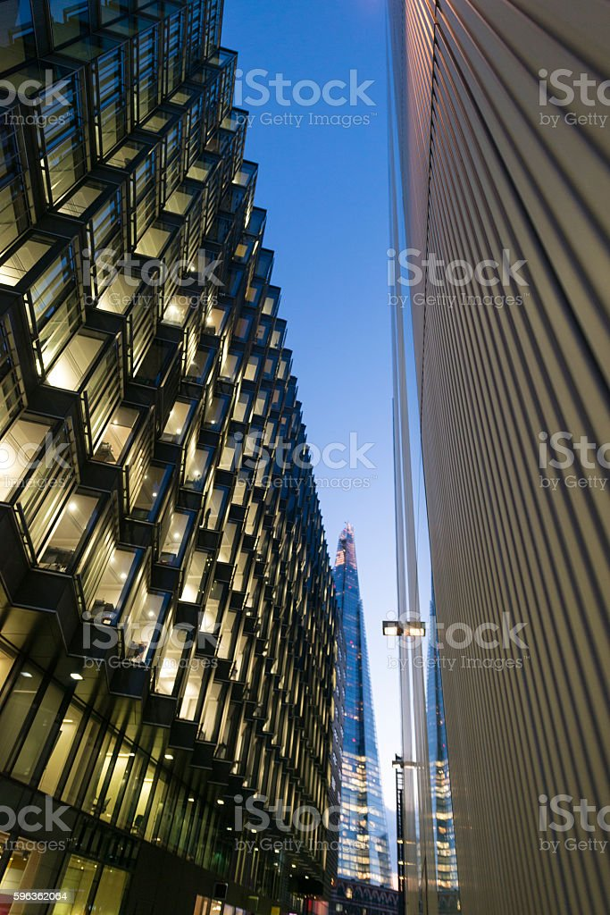 Modern Glass and Steel Buildings Exterior royalty-free stock photo